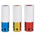 Plonasienių smūginių galvučių rinkinys su plastikinėm apsaugom 3 vnt 17-19-21mm (7200)