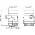 UP500 panardinamas vandens siurblys 12V 32 l/min